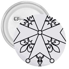 Huguenot Cross 3  Buttons