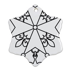 Huguenot Cross Ornament (Snowflake)
