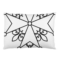 Huguenot Cross Pillow Case (Two Sides)