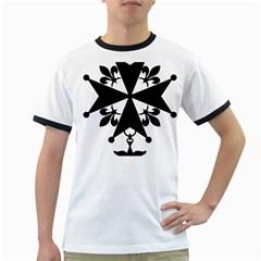 Huguenot Cross Ringer T-Shirts
