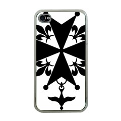 Huguenot Cross Apple Iphone 4 Case (clear)