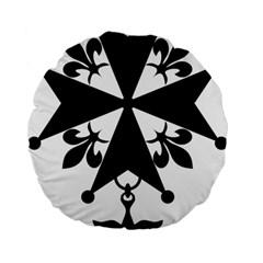Huguenot Cross Standard 15  Premium Flano Round Cushions