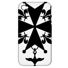 Huguenot Cross Apple Iphone 4/4s Hardshell Case (pc+silicone)