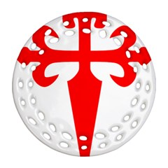 Cross of Saint James  Round Filigree Ornament (Two Sides)