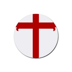 Cross of Saint James Rubber Round Coaster (4 pack)