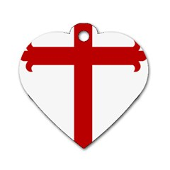 Cross of Saint James Dog Tag Heart (Two Sides)