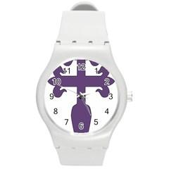 Cross of Saint James Round Plastic Sport Watch (M)