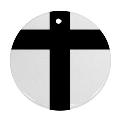 Latin Cross  Round Ornament (Two Sides)