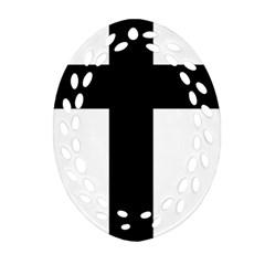 Latin Cross  Ornament (Oval Filigree)