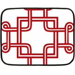 Macedionian Cross Double Sided Fleece Blanket (Mini)