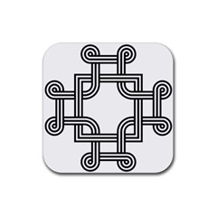 Macedonian Cross Rubber Square Coaster (4 pack)
