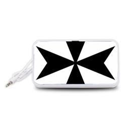 Maltese Cross Portable Speaker (White)