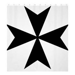 Maltese Cross Shower Curtain 66  x 72  (Large)