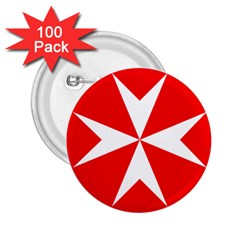 Cross of the Order of St. John  2.25  Buttons (100 pack)