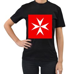 Cross of the Order of St. John  Women s T-Shirt (Black)