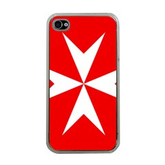 Cross of the Order of St. John  Apple iPhone 4 Case (Clear)