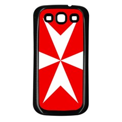 Cross Of The Order Of St  John  Samsung Galaxy S3 Back Case (black)