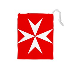 Cross of the Order of St. John  Drawstring Pouches (Medium)