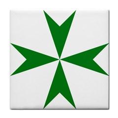 Cross of Saint Lazarus Tile Coasters