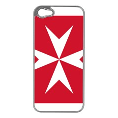 Civil Ensign of Malta Apple iPhone 5 Case (Silver)