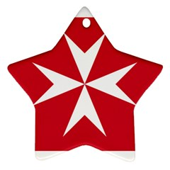 Civil Ensign of Malta Ornament (Star)