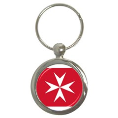 Civil Ensign of Malta Key Chains (Round)