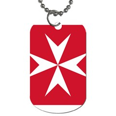 Civil Ensign of Malta Dog Tag (Two Sides)