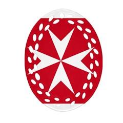 Civil Ensign of Malta Ornament (Oval Filigree)
