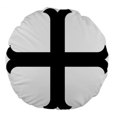Cross Moline Large 18  Premium Round Cushions