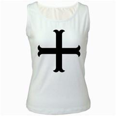 Cross Molin Women s White Tank Top