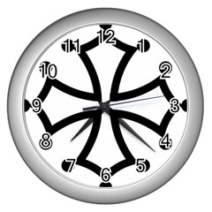 Occitan Cross\ Wall Clocks (Silver)