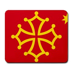 Flag of Occitania Large Mousepads