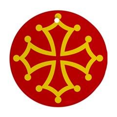 Flag of Occitania Round Ornament (Two Sides)