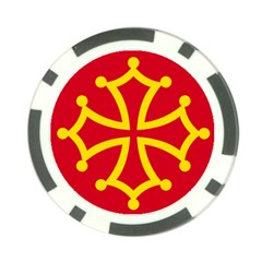 Flag of Occitania Poker Chip Card Guard (10 pack)