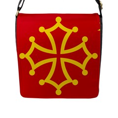 Flag Of Occitania Flap Messenger Bag (l)