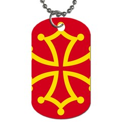 Flag Of Occitaniah Dog Tag (Two Sides)