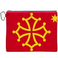 Flag Of Occitaniah Canvas Cosmetic Bag (XXXL)