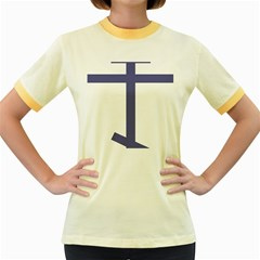 Orthodox Cross  Women s Fitted Ringer T-Shirts