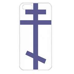 Orthodox Cross  Apple iPhone 5 Seamless Case (White)