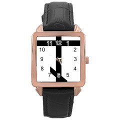 Orthodox Cross  Rose Gold Leather Watch