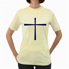Byzantine Cross  Women s Yellow T-Shirt