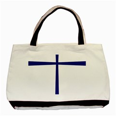 Byzantine Cross  Basic Tote Bag (Two Sides)
