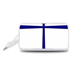Byzantine Cross  Portable Speaker (White)