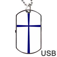Byzantine Cross  Dog Tag USB Flash (One Side)