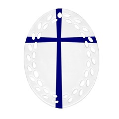 Byzantine Cross  Oval Filigree Ornament (Two Sides)