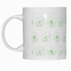 Pattern White Mugs