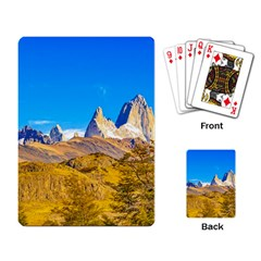 Snowy Andes Mountains, El Chalten, Argentina Playing Card