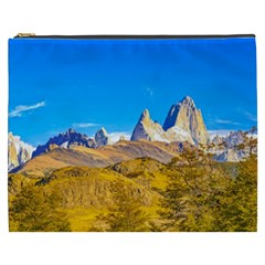 Snowy Andes Mountains, El Chalten, Argentina Cosmetic Bag (XXXL)