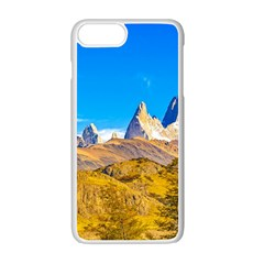 Snowy Andes Mountains, El Chalten, Argentina Apple Iphone 7 Plus White Seamless Case