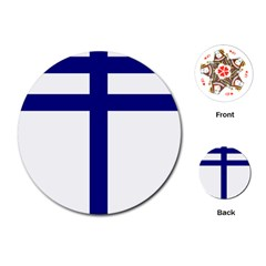 Papal Cross  Playing Cards (Round)